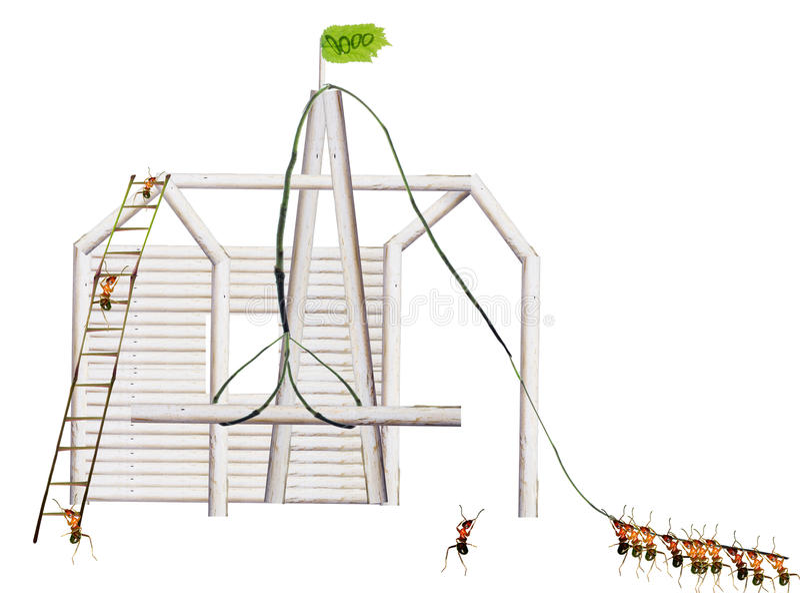 De mieren bouwen huizen royalty-vrije stock foto