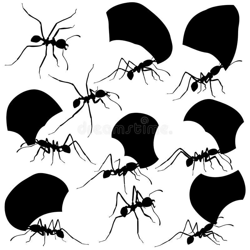 De mieren van de bladsnijder royalty-vrije illustratie