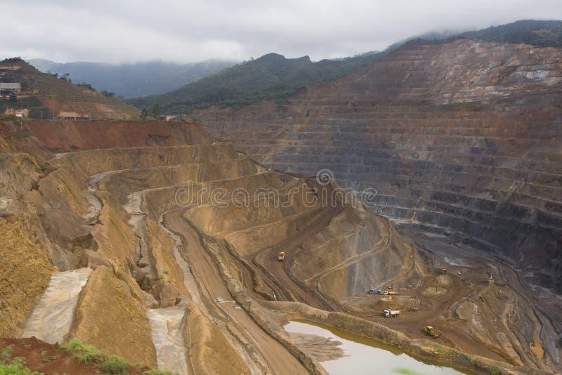 De mijnbouw van het erts stock foto