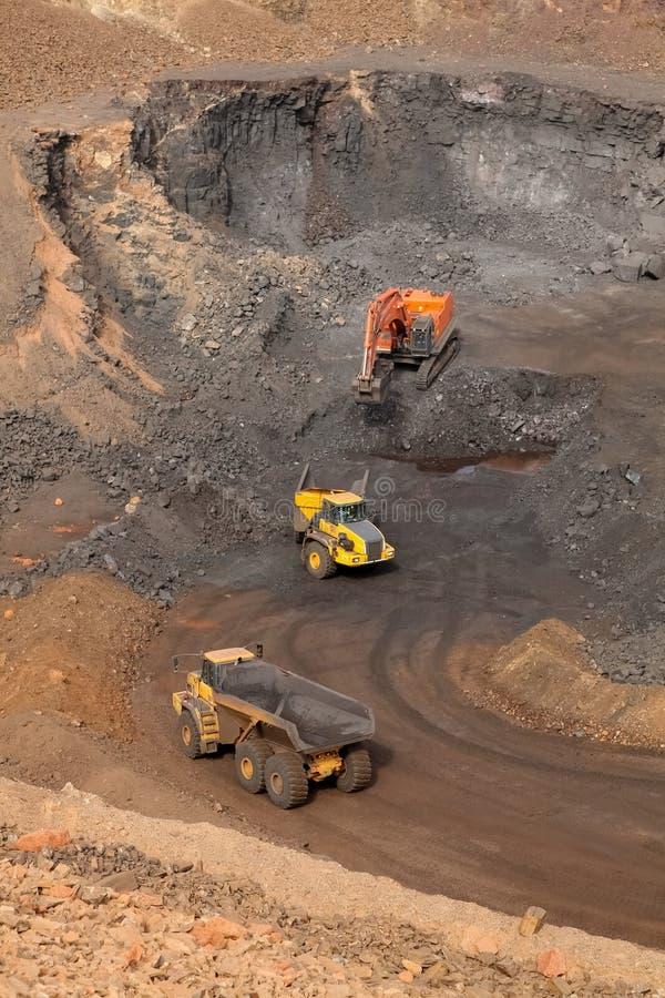 De Mijnbouw van het open kuilmangaan stock foto's