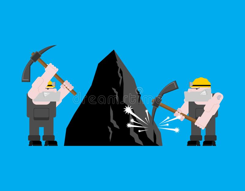 De mijnbouw van de mijnwerkersarbeider collier met pikhouweel Pitman is bij royalty-vrije illustratie