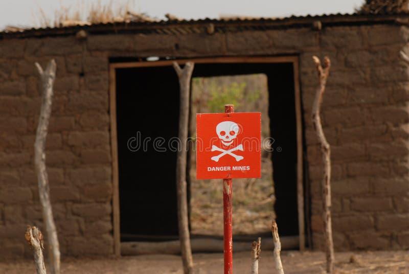 De mijnteken van het gevaar in de Zuidelijke Soedan royalty-vrije stock foto