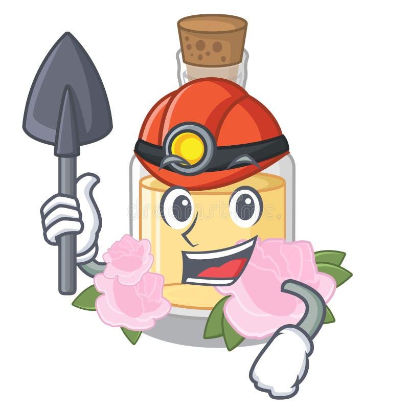 De mijnwerker nam olie in de beeldverhaalvorm toe vector illustratie