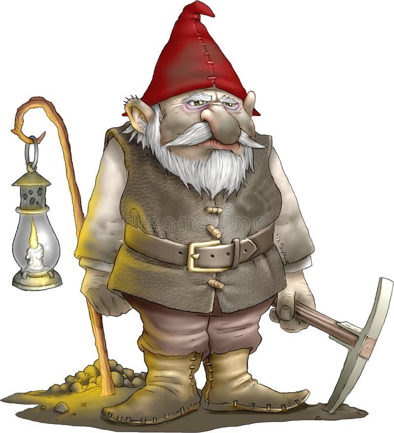 De Mijnwerker van de gnoom vector illustratie