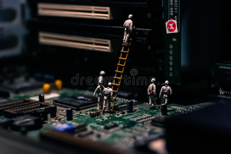 De Mijnwerkers werken stock fotografie