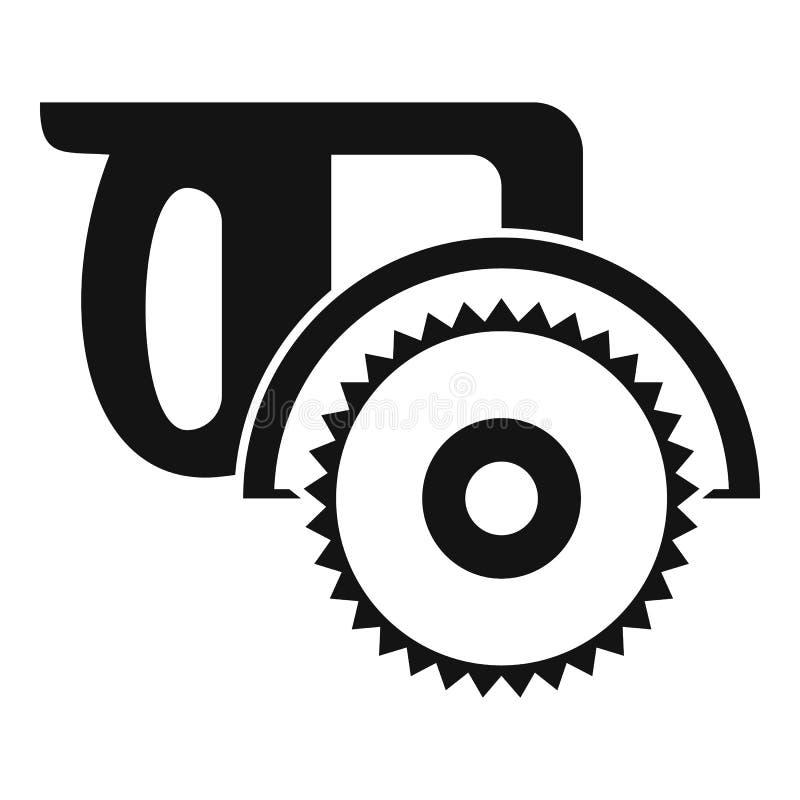 De mijter zag pictogram, eenvoudige stijl stock illustratie