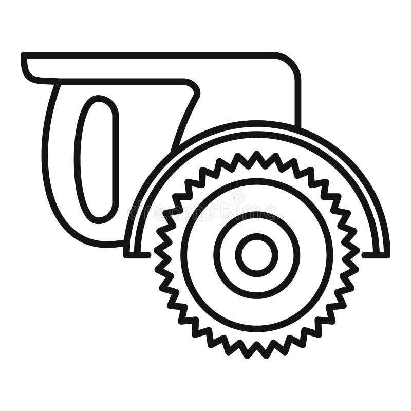 De mijter zag pictogram, overzichtsstijl vector illustratie