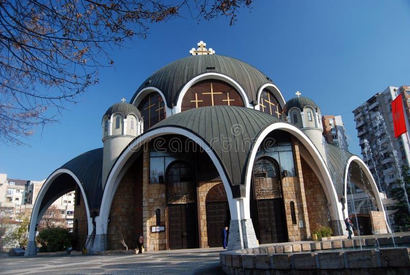 De Milde orthodoxe kerk van heilige, Skopje Macedonië royalty-vrije stock foto's