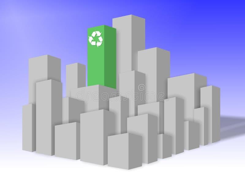 De milieuvriendelijke bouw stock illustratie