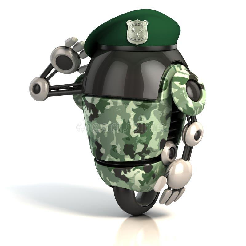 De militair 3d illustratie van de robot royalty-vrije illustratie