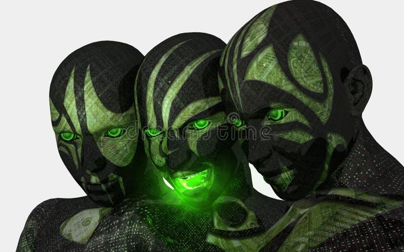 De militair van Cyborg stock illustratie
