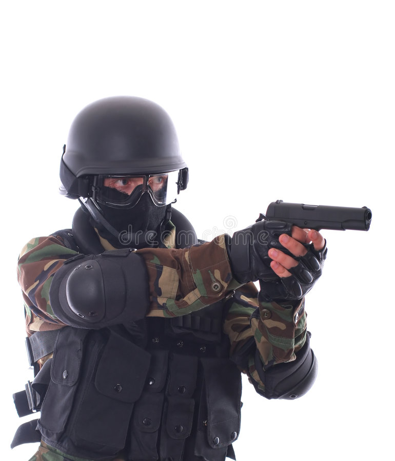 De militair van de mep stock foto