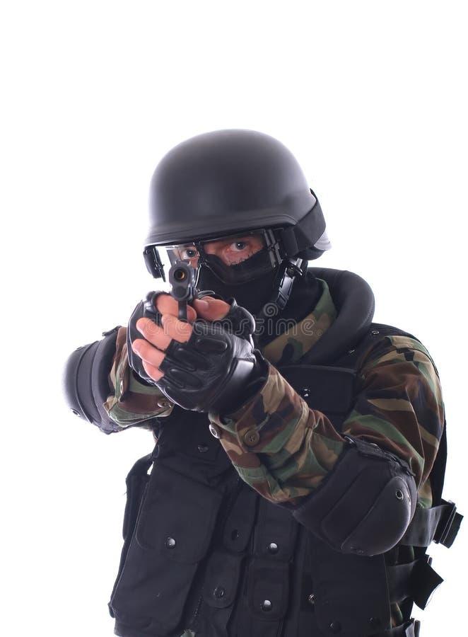 De militair van de mep royalty-vrije stock afbeeldingen
