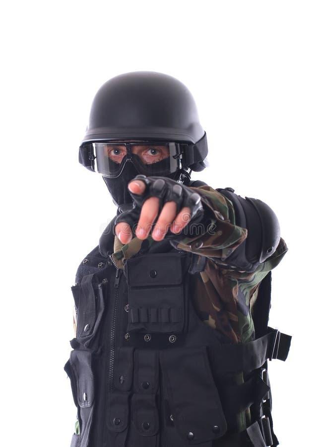 De militair van de mep stock fotografie