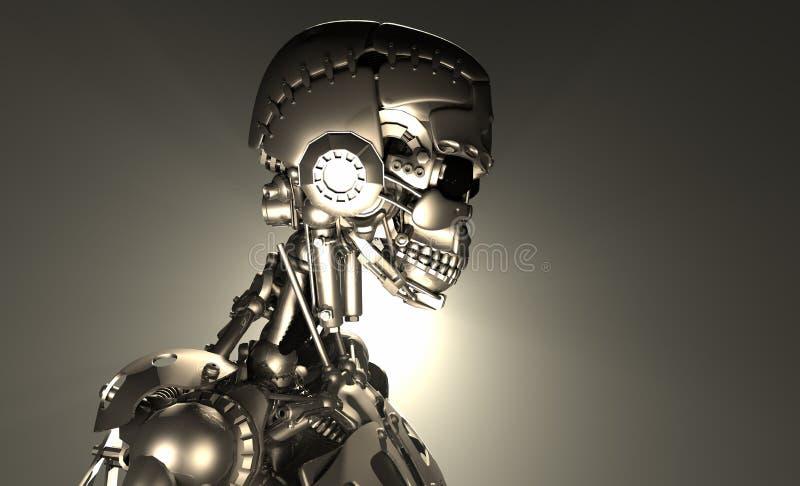 De militair van de robot royalty-vrije illustratie