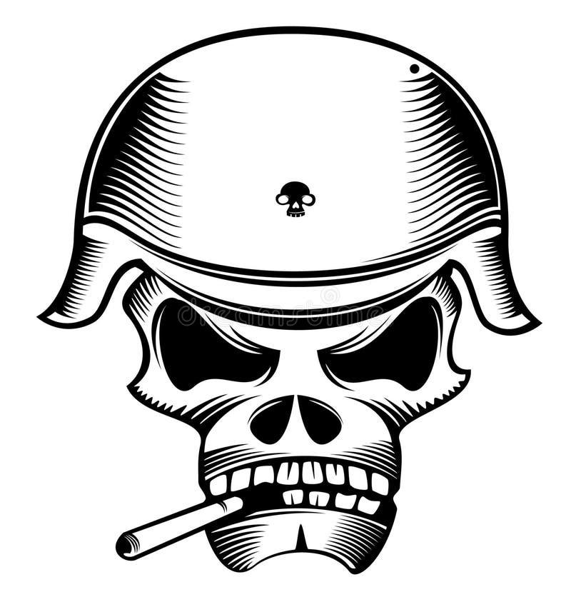De militair van de schedel vector illustratie
