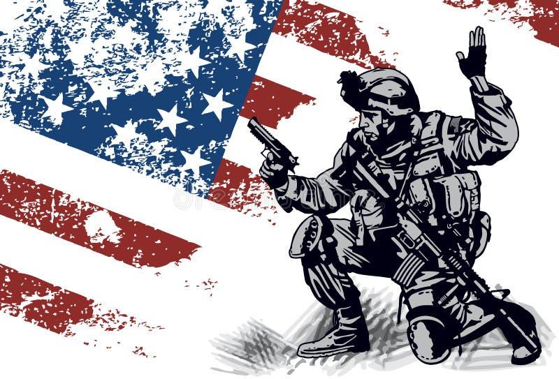 De militair van de V.S. vector illustratie