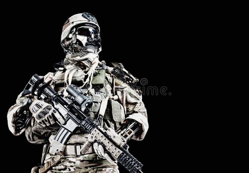 De militair van het Cyberleger stock illustratie