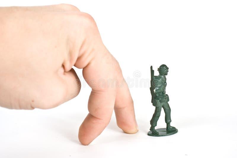 De militair van het stuk speelgoed stock foto's