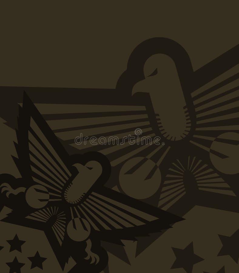 De militaire achtergrond van Crative royalty-vrije illustratie