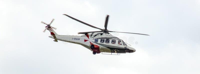 De militaire helikopter van Agustawestland AW149 voor Pools leger stock afbeelding