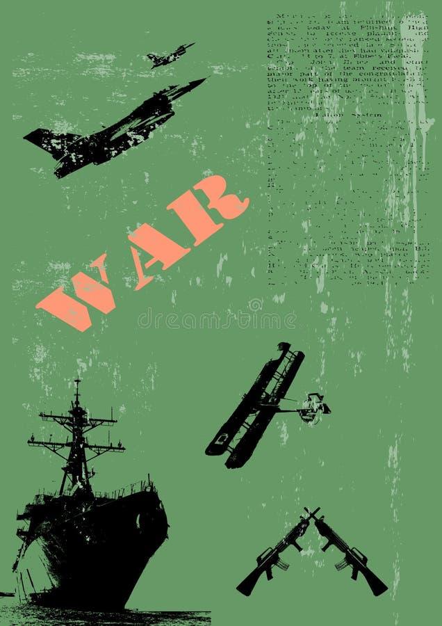 De militaire Illustratie van de Affiche stock illustratie