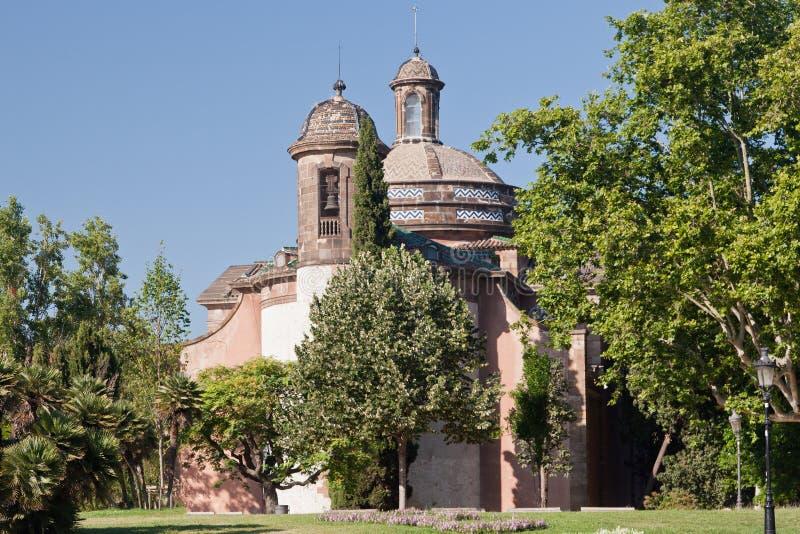 De militaire Kerk van de Parochie van Barcelona royalty-vrije stock foto