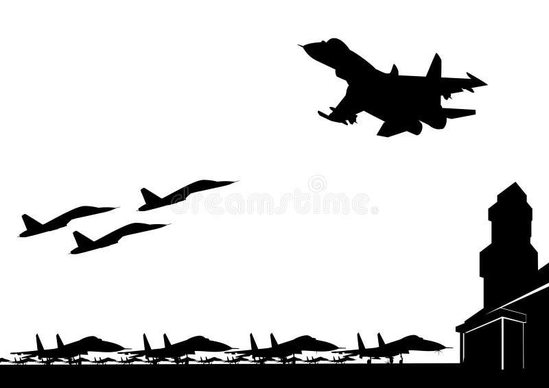 De Militaire Luchtmachtbasis Stock Afbeeldingen