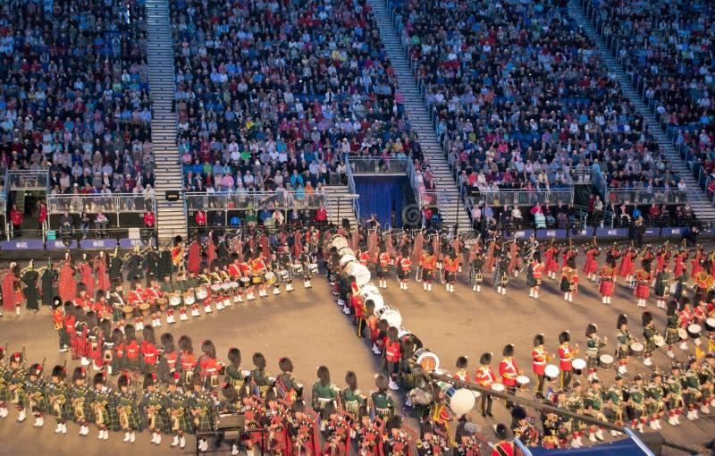 De Militaire Tatoegering van Edinburgh royalty-vrije stock afbeelding