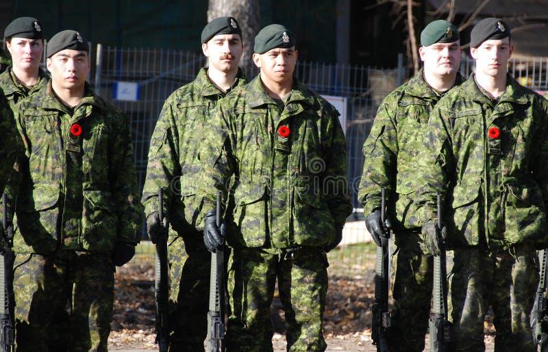 De militairen van Canadezen royalty-vrije stock foto's
