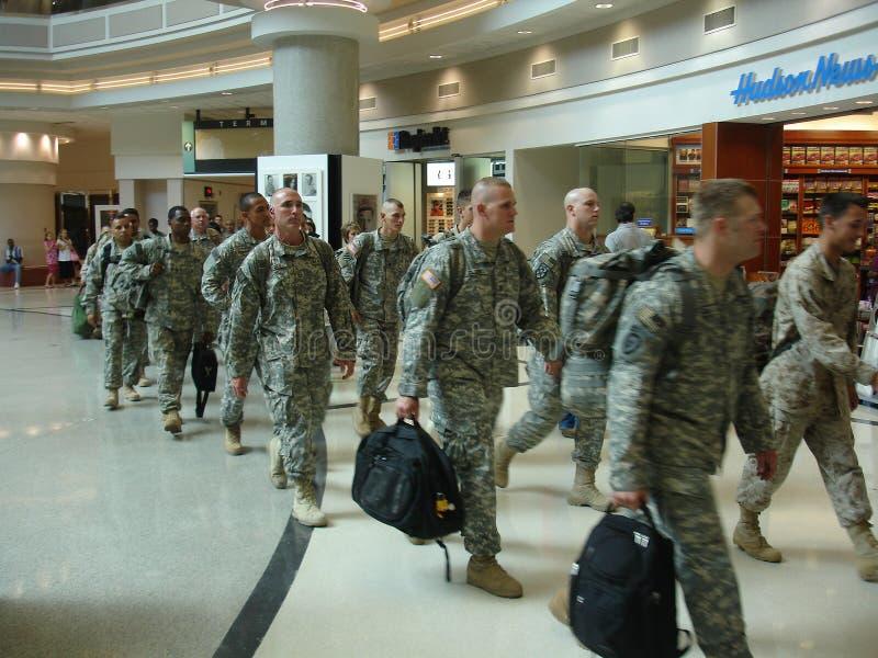 De militairen van de V.S. stock afbeeldingen