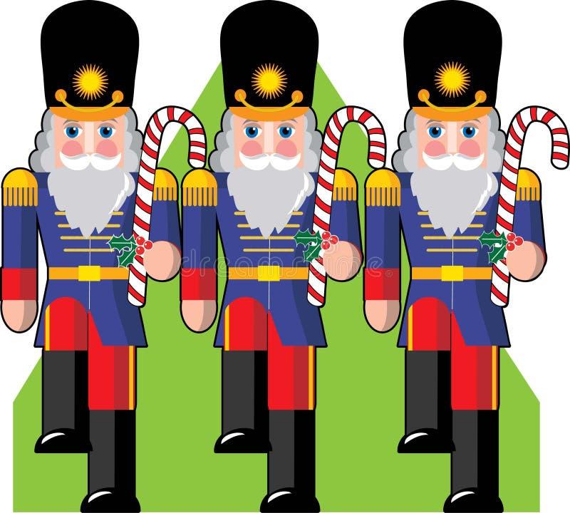 De Militairen van het stuk speelgoed royalty-vrije illustratie