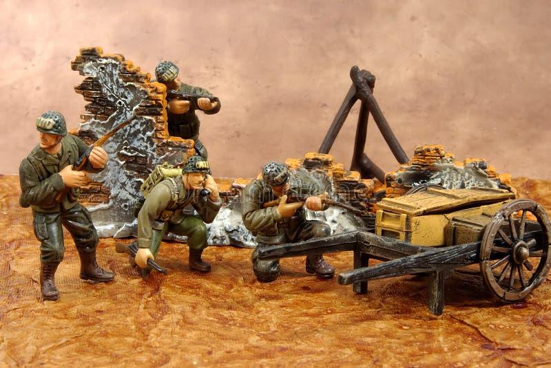 De Militairen van het stuk speelgoed royalty-vrije stock afbeeldingen