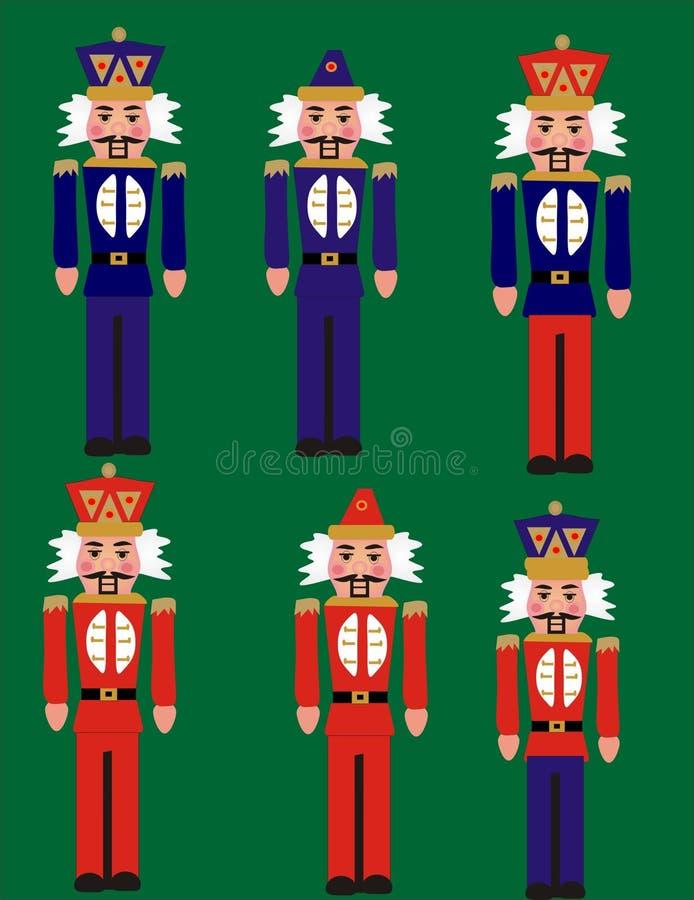 De militairen van het stuk speelgoed stock illustratie