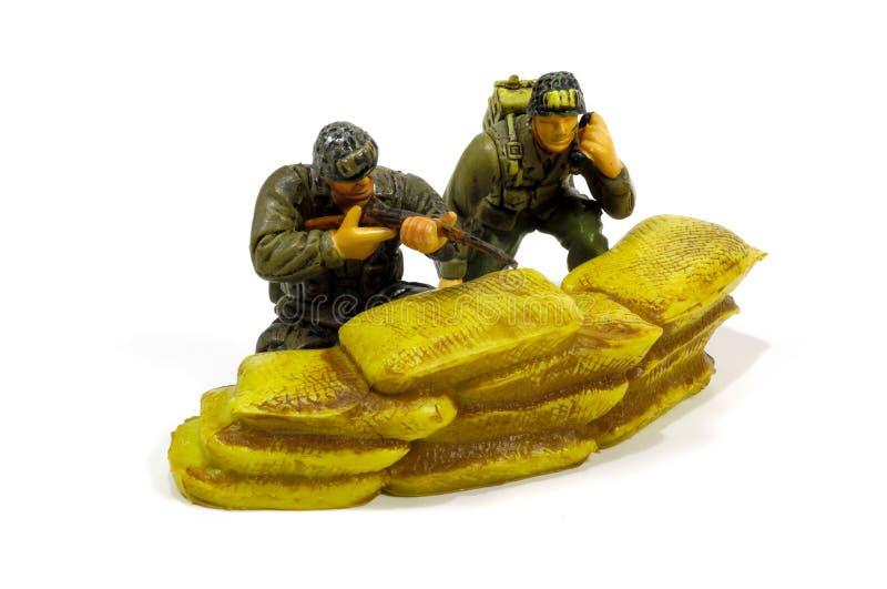 De Militairen van het stuk speelgoed stock fotografie