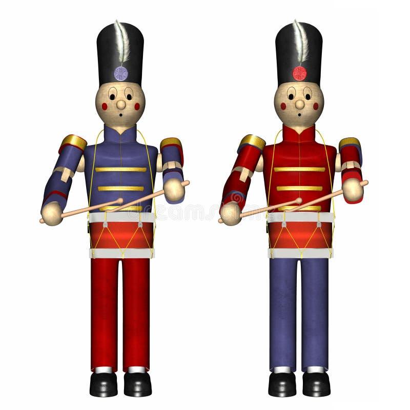 De Militairen van het Stuk speelgoed van Kerstmis stock illustratie