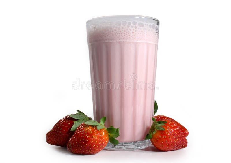 De milkshake van de aardbei royalty-vrije stock afbeeldingen