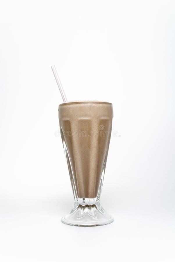 De Milkshake van de chocolade stock afbeelding