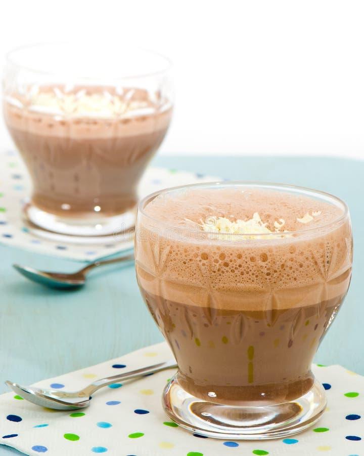 De Milkshake van de chocolade royalty-vrije stock foto's