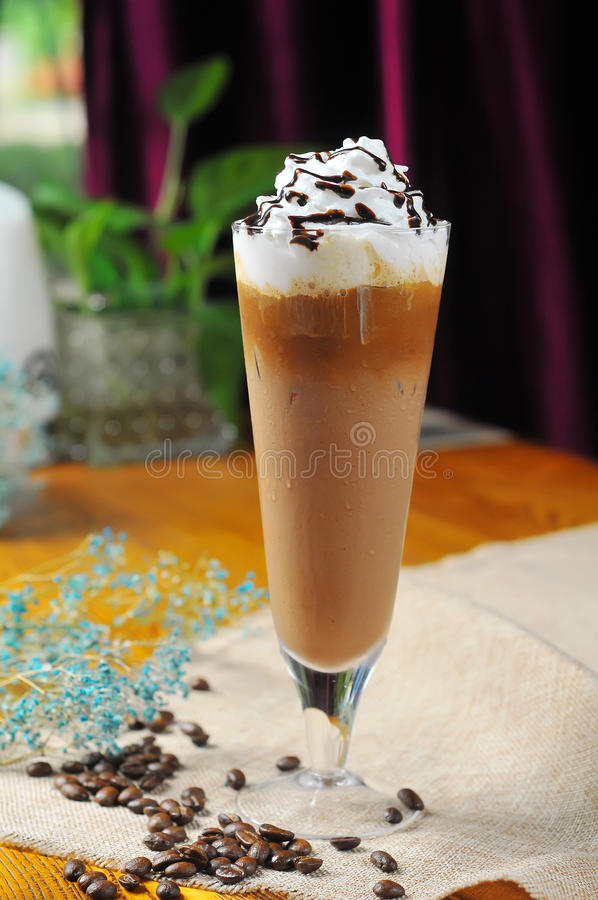 De milkshake van de chocoladechocolade stock foto