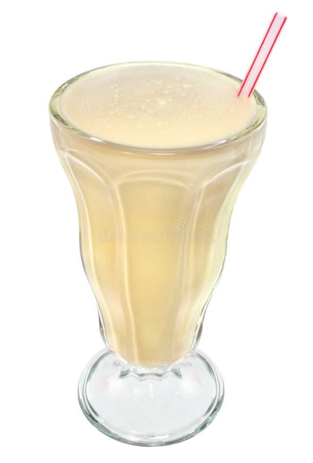 De milkshake van de vanille in uitstekend glas royalty-vrije stock fotografie