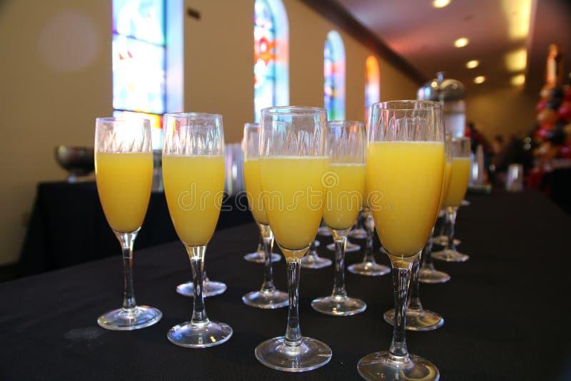 De mimosa ` s is klaar voor de partij royalty-vrije stock foto
