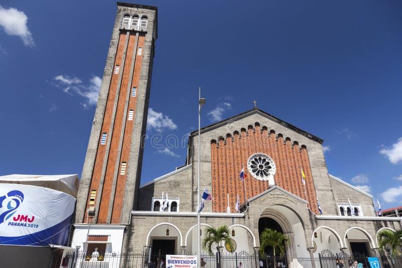 De minder belangrijke Don Bosco Basilica Catholic Church Religious-Stad van de Dienstpanama royalty-vrije stock foto's