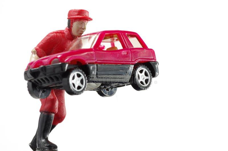 De miniatuur van de arbeidersauto royalty-vrije stock foto's