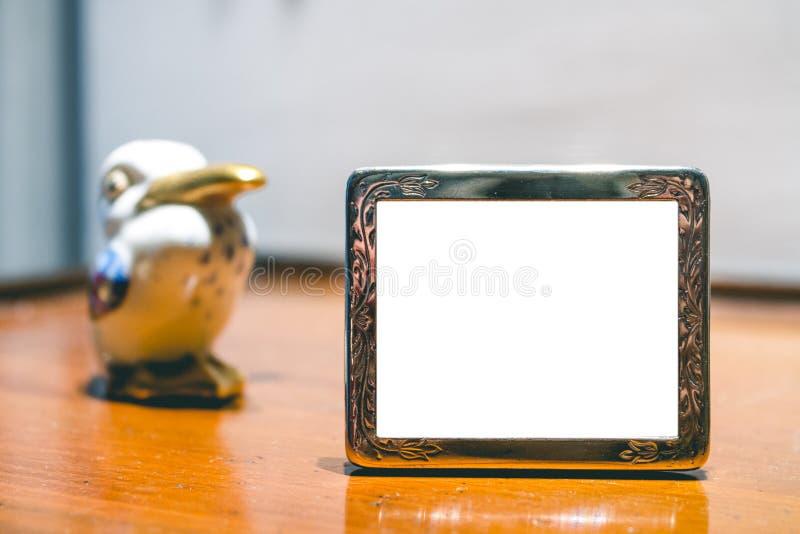 De miniatuur Zilveren Spot van het Fotokader omhoog stock afbeeldingen