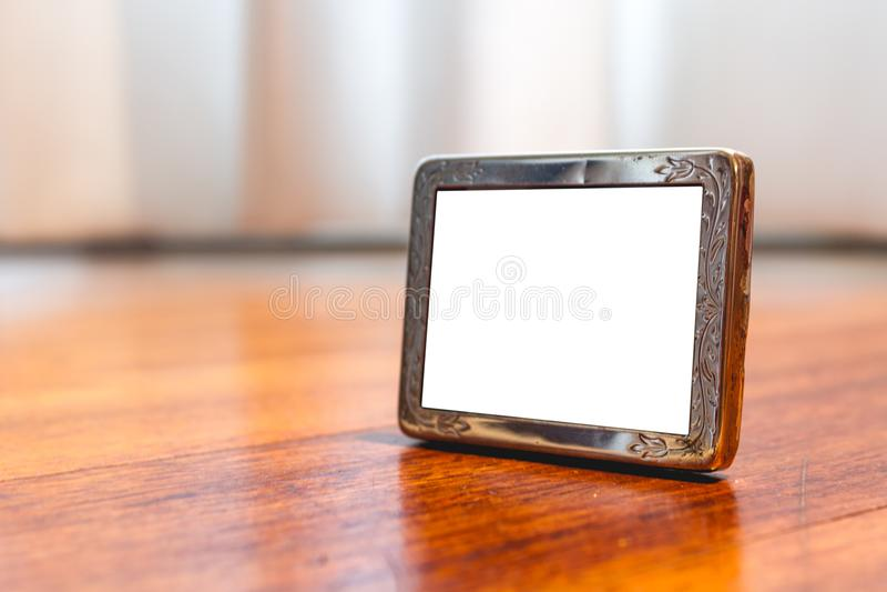 De miniatuur Zilveren Spot van het Fotokader omhoog stock foto