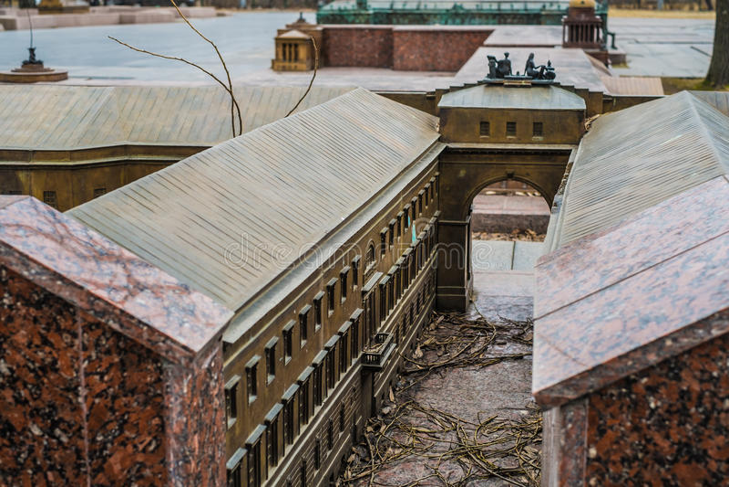 De miniatuurkluisbouw in heilige-Petersburg, close-upmening stock fotografie