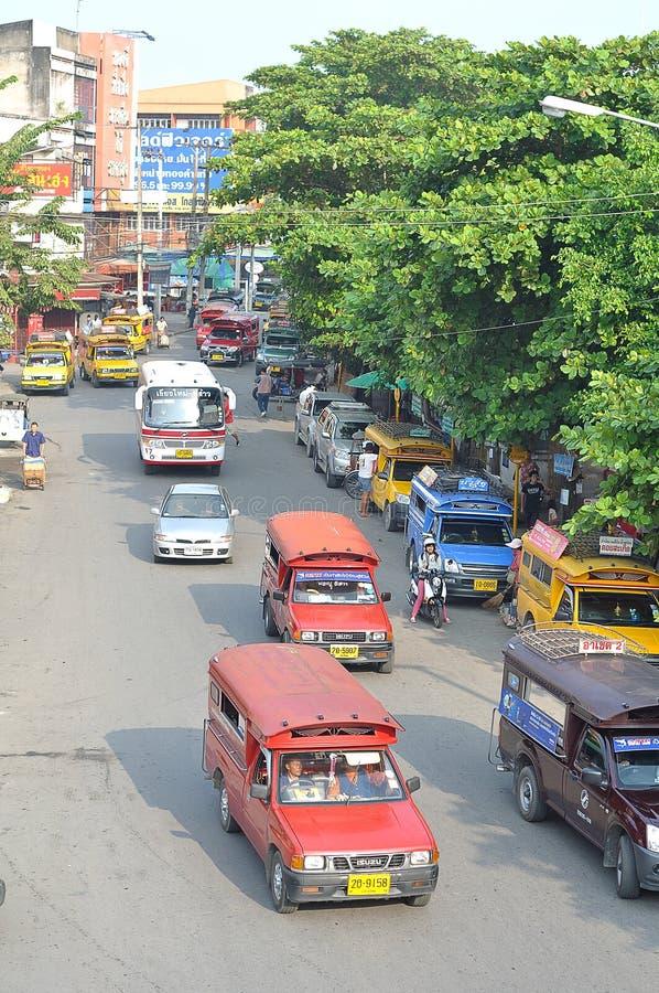 De minibus van Chiangmai stock foto