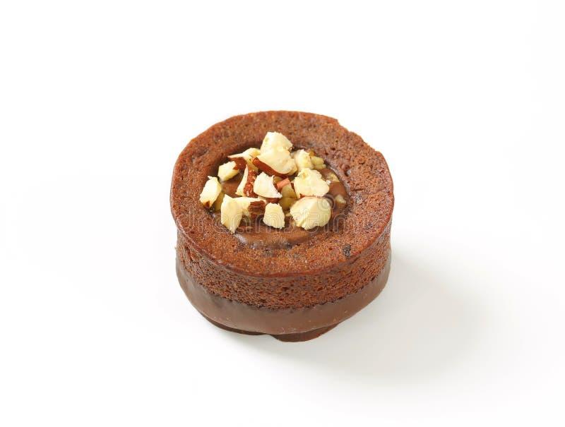 De minicake van de chocoladehazelnoot royalty-vrije stock fotografie