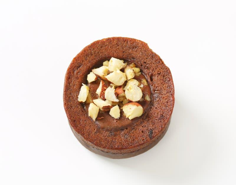 De minicake van de chocoladehazelnoot royalty-vrije stock foto